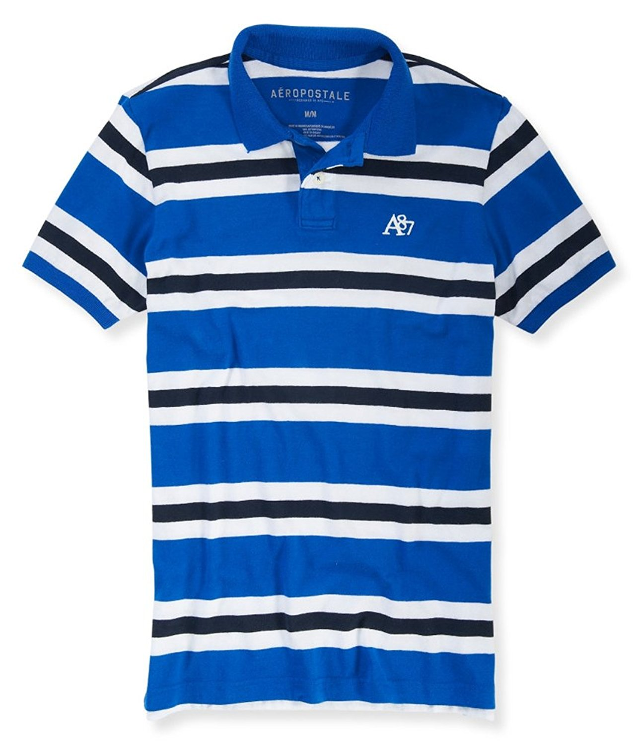 03d4bfa1556 Buy Aeropostale Mens Striped Embroidered Rugby Polo Shirt in Cheap ...
