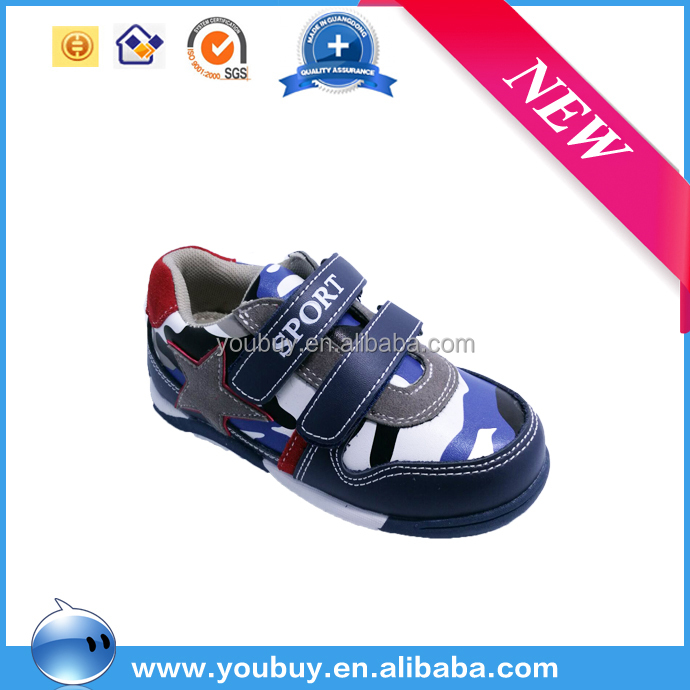 Camouflage upper Amercia baby running shoes boy sport shoes low moq