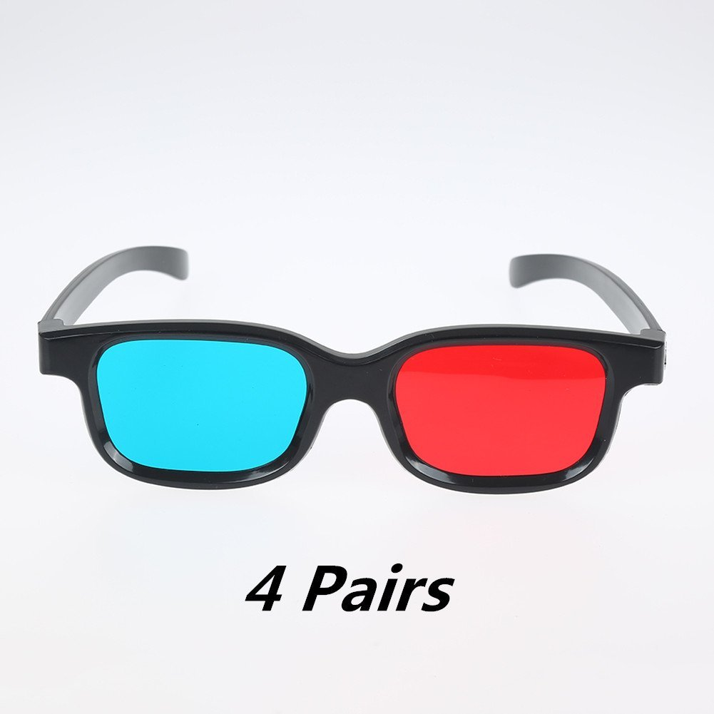 5703dfed4b Get Quotations · Adult Red Blue  Cyan 3D Vision Glasses