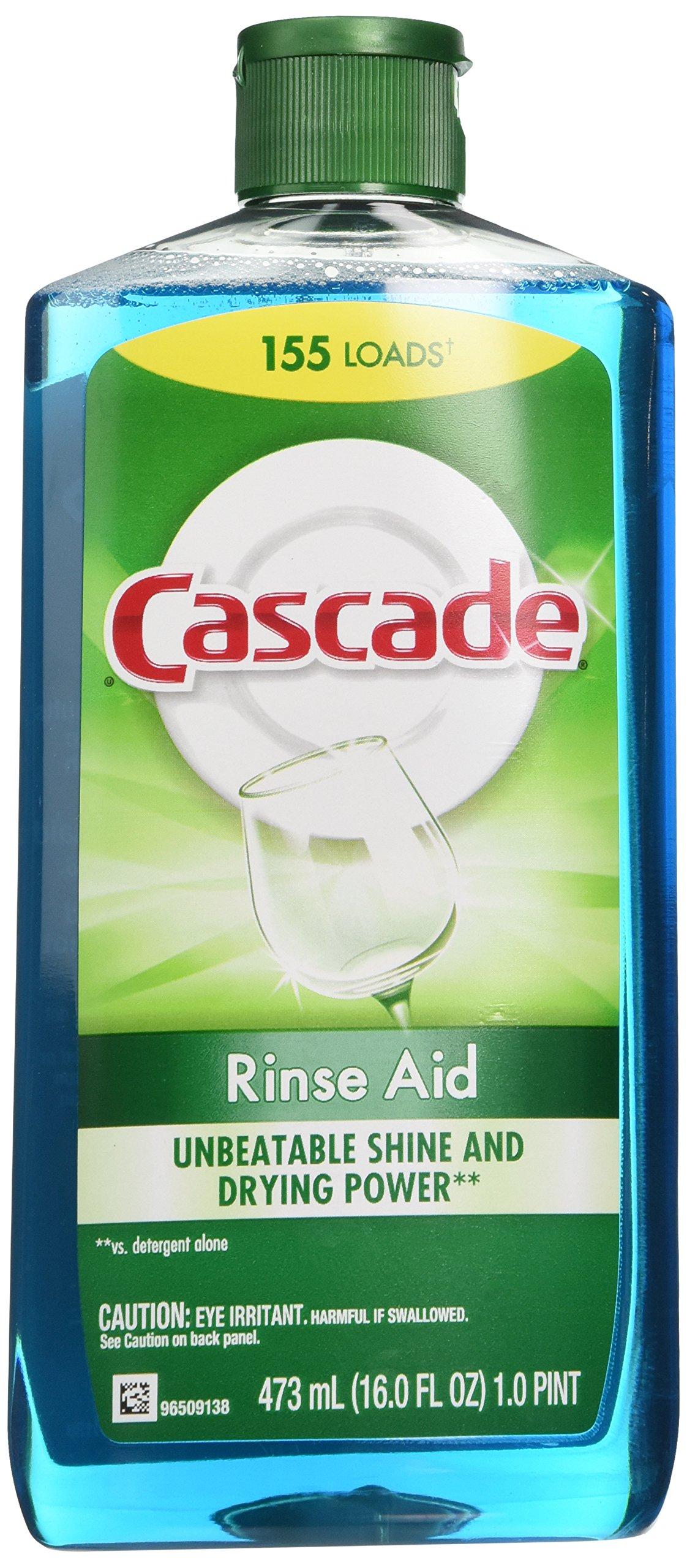 Cascade Rinse Aid Dishwasher Agent Original Scent 16 Fl Oz