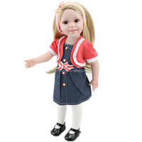 Hot selling cute vinyl 18 inch dress american girl doll accessories