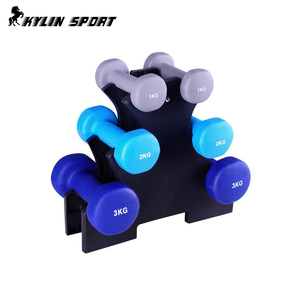 Portable Combination Neoprene PVC Cast Iron Dumbbell Set With Rack