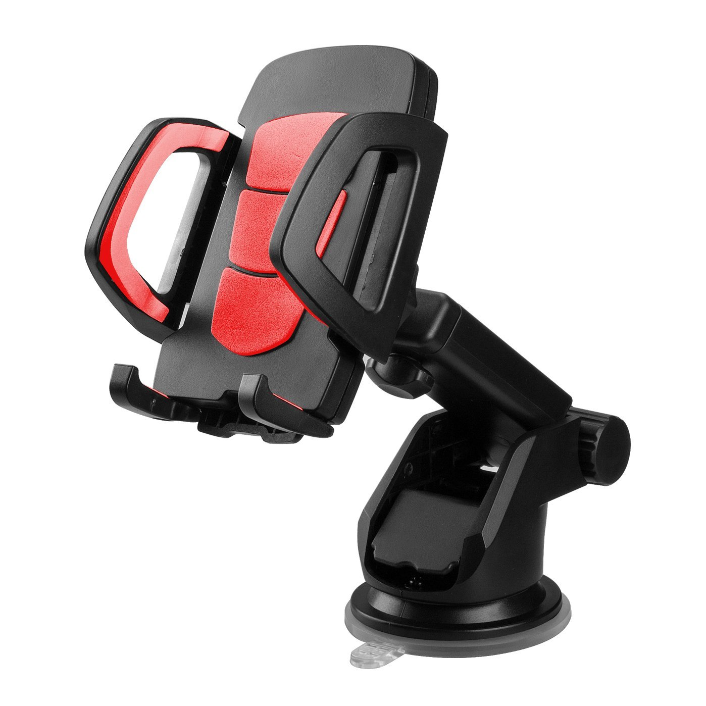 Lantoo Car Mount, Adjustable Car Phone Holder Universal Long Arm/Neck 360°Rotation with Reusable Suction Cup for Dashboard and Windshield for iPhone6/6s/6Plus,Samsung,Sonny,HTC(Red)