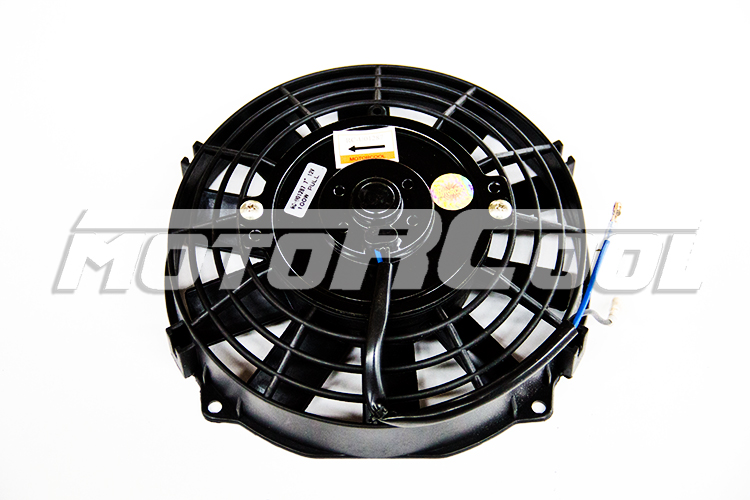 Condenser fan universal use 7'' 12V PULL/PUSH100W Black Straight Blades