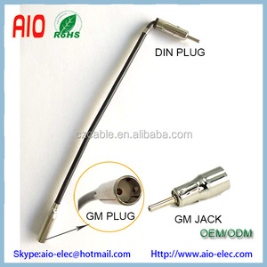 15CM 90 degree Din male plug to GM Factory female jack FM AM CB radio car antenna connector adapter cable