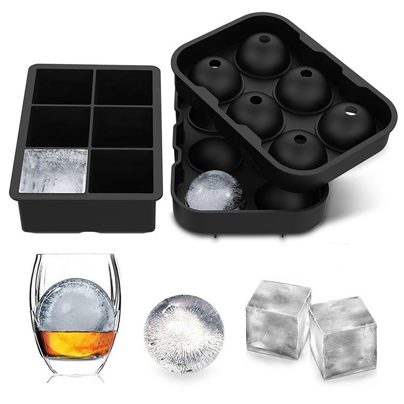 Einfach Release Reusable Ice Cube Trays Kugel Runde Ice Ball Maker und Große Platz Ice Cube Mold