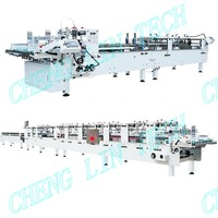 Automatic box gluing machine