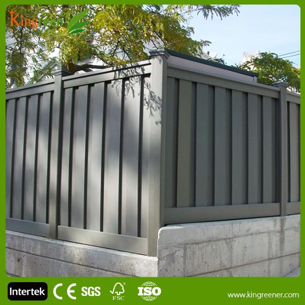 pannelli di recinzione wpc composito di plastica telaio in