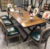 Factory price vintage pictures of 12 seater wooden dining table
