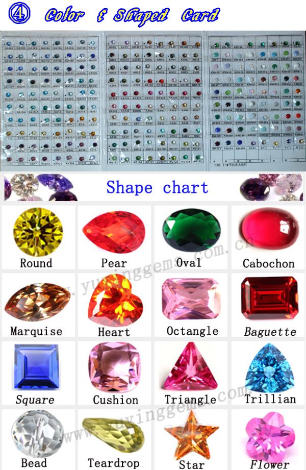 Black Kh21- Gemstone Names 6*8mm Pear Cut Gemstones Glass Gems ...