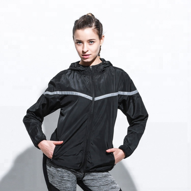 Blank Black Sportswear Wholesale Women Fashion Fitness Running Top Athletic Jacket