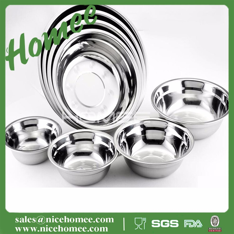 Hot sale 12cm-24cm stainless steel round dish