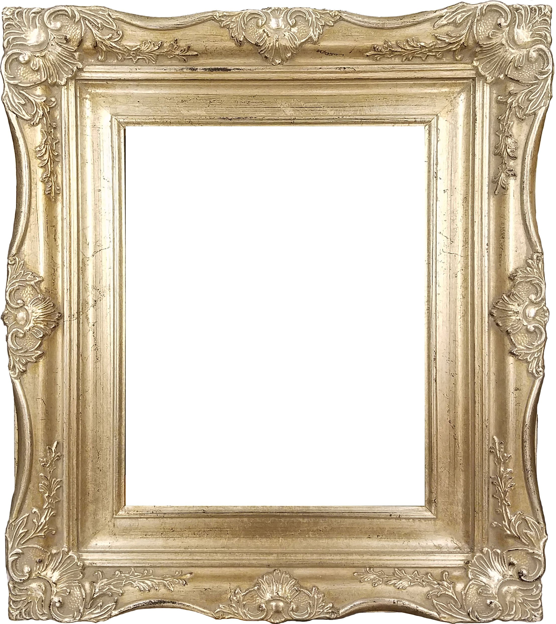 "4"" Vintage Ornate Baroque French Silver Picture Frame (11x14 Inch)"