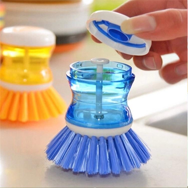 Kitchen Tools Add Cleaning Liquid Multicolor Plastic Hydraulic Washing Brush