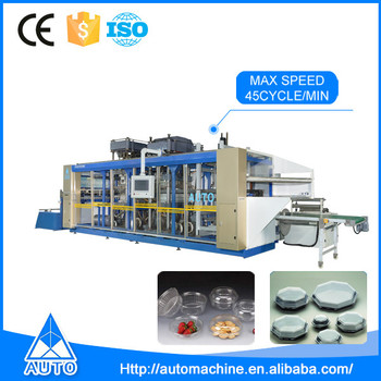High speed making production automatic PP PS plastic thermoforming machine