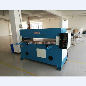 Manual corrugated cardboard/carton box hydraulic cutting press machine