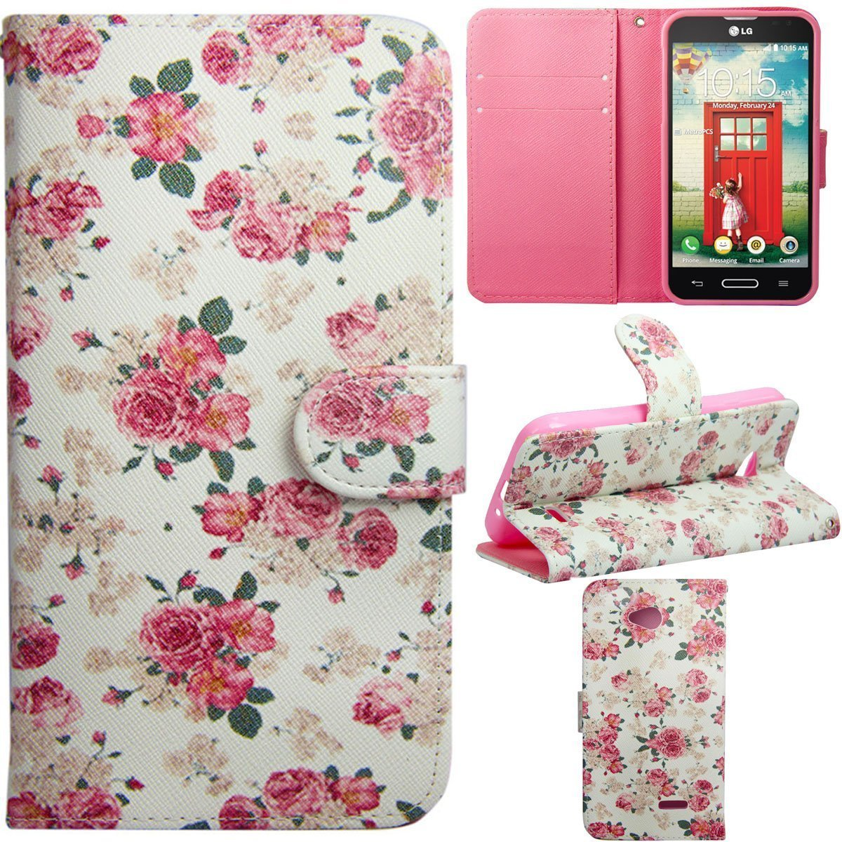 Buy Lg G Pro Lite D680 Case Kuteck Dual Layer Armor Protector D686 Black Kickstand Casetribe Tiger Pink Rose Design Premium Pu Leather Wallet Flip Folio Cover For