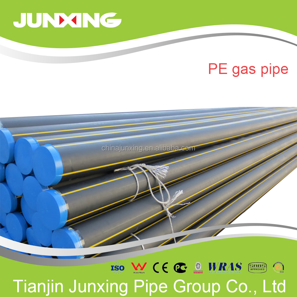 hdpe yellow gas pipe HDPE100 with 100% raw material