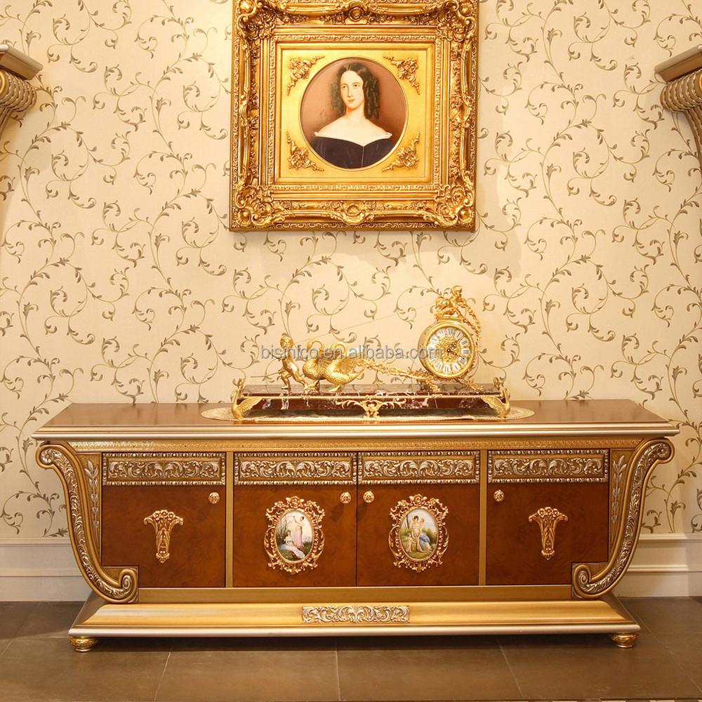 Franu00e7ais luxe Louis XV Style meuble TV en bois avec vitrine / palais ...