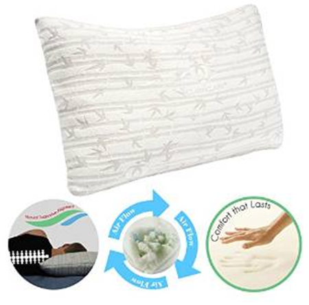 bamboo covered shredded pillow queen non-woven bag packed