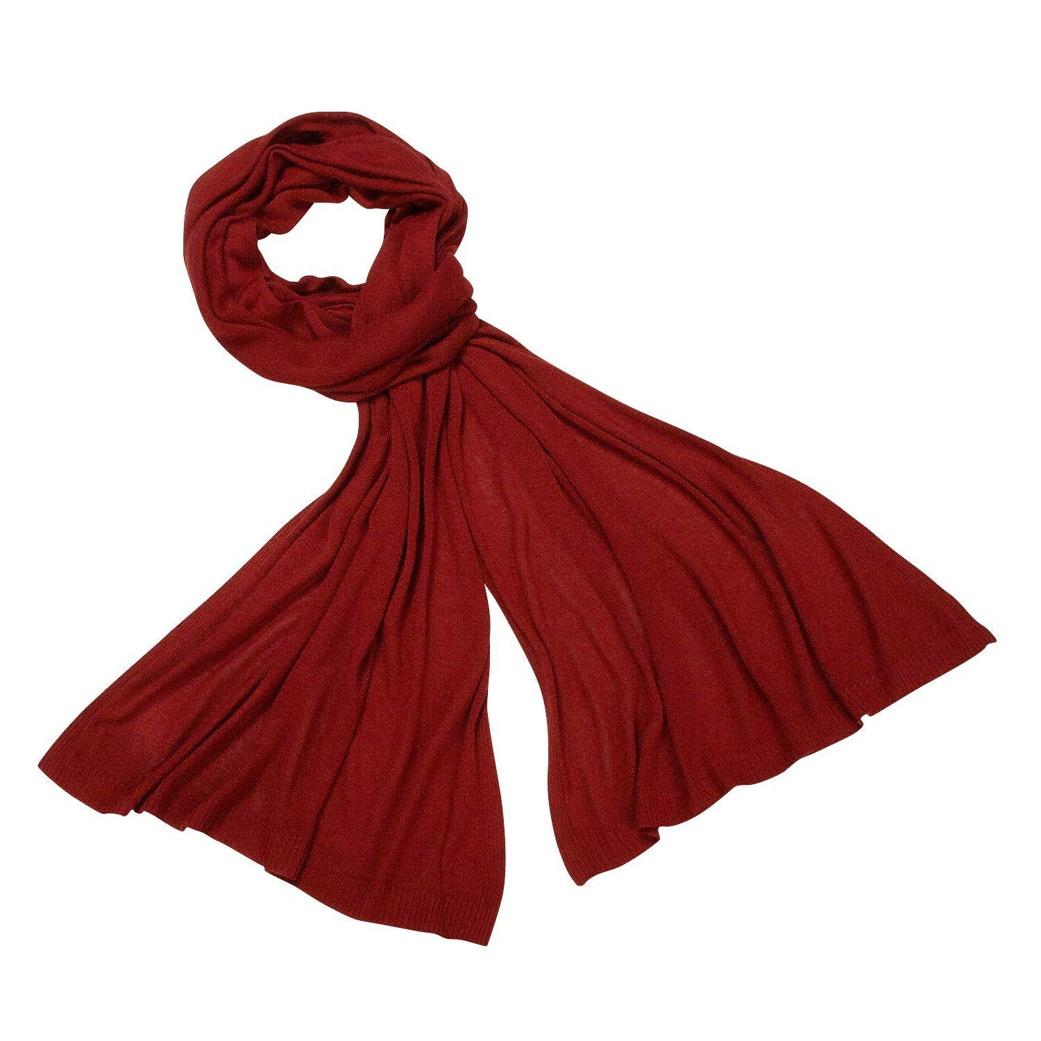 87f2ec93614 Get Quotations · Eco-Friendly Lightweight Reversible Scarf  Nepal Red Bamboo  Scarf