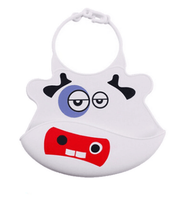China Unique New Design Silicon Baby Bib With Catcher