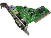 PCI 4 Channel MIDI 3D Audio PC Sound Card
