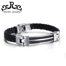 RITB40 Trending Products 2018 New Arrivals Bulk Leather Bracelet Men Leather Bracelet Bangle