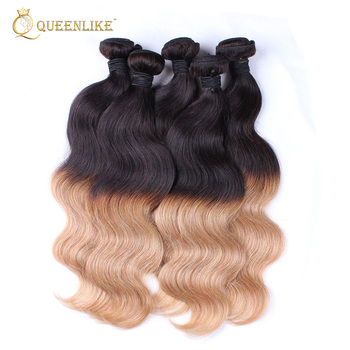 Cambodian Loose Wave Virgin Human Hair 3 Tone 1b 27 Color Ombre