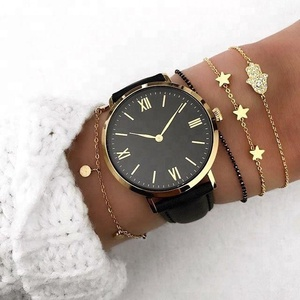 2018 New Quartz Stainless Steel Back Watch Excel Wrist Watch Price Relojes Para Dama
