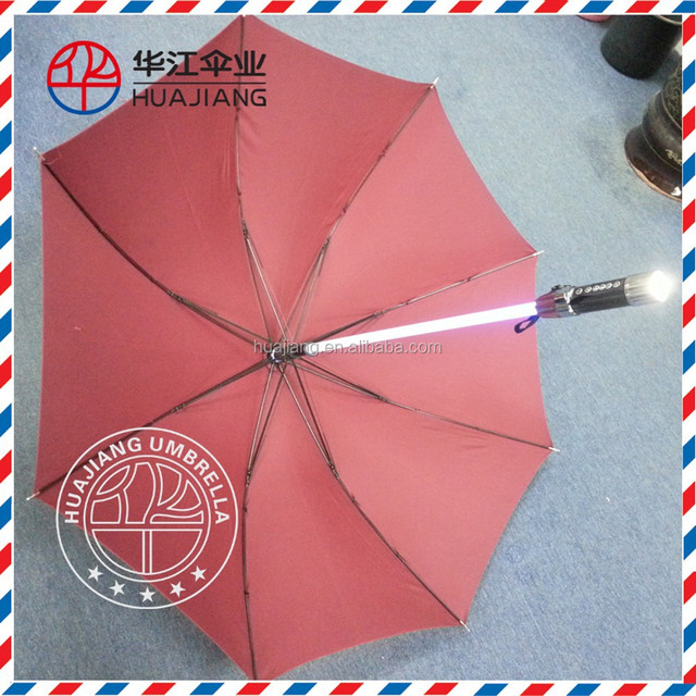 China manufacturer feature shaft light handle torch LED umbrella glow in the dark