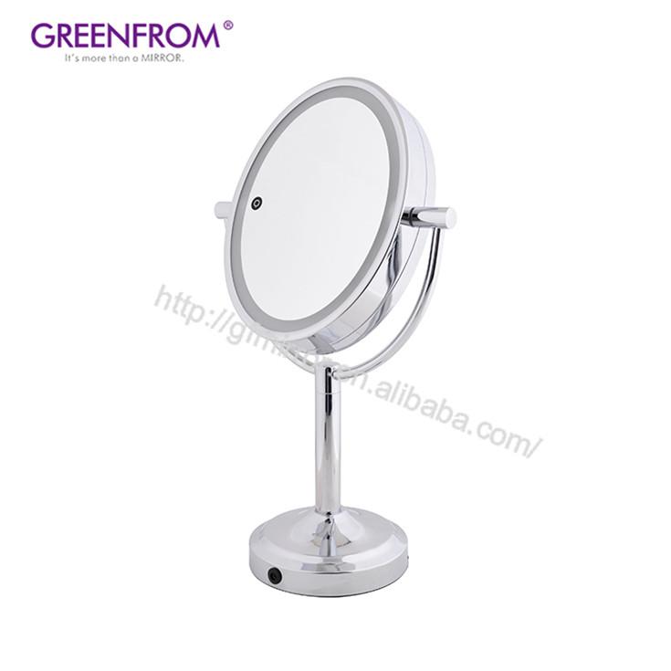 Schönheit & Gesundheit Angemessen Led Beleuchtete Make-up Spiegel 10x Vergrößerungs Compact Travel Tragbare Sensing Beleuchtung Touch Screen Make-up Spiegel