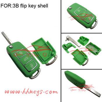 3buttons Car Key Replacement Shell Coverremote Flip Key Cover For Vw