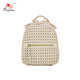 BK8-013 Unique straw weave leather backpack high school wholesale backpacks from china