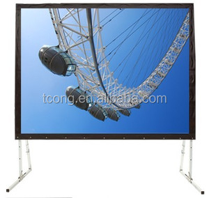 Various size indoor or outdoor portable fast fold projection screen