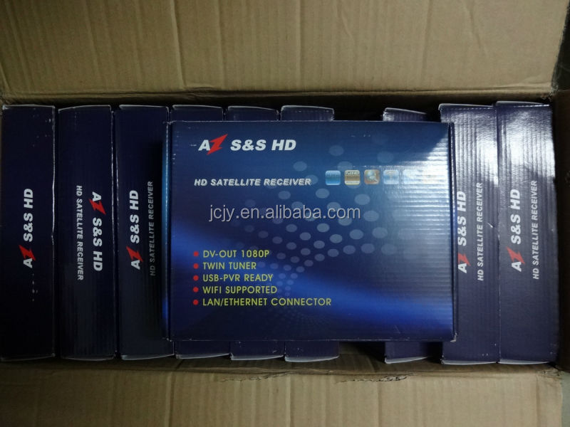decodificador AZ S&S HD twin tuner sks and IKS free for for southe america in stock