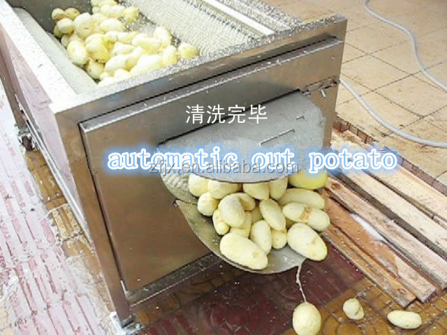 Automatic Stainless Steel Brush Washing And Peeling Peaches And ...