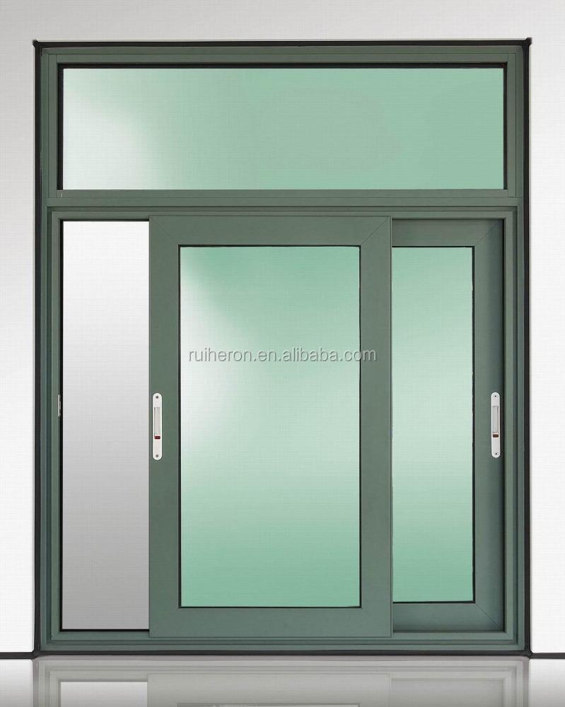 perfil de aluminio ventana corredera ventana rejillas de diseo de doble vidrio templado
