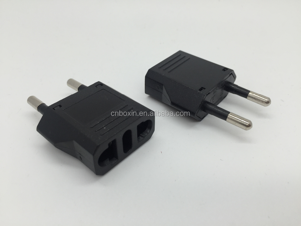 Hot selling portable travel plug adapter euro plug male to female