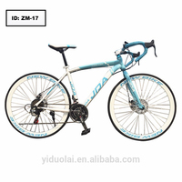 21-speed road bike 26 inch double disc road bike high carbon steel road bike