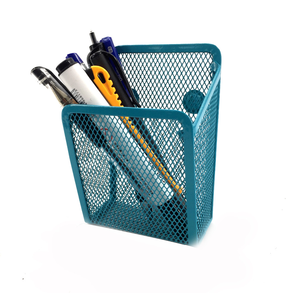 Square Hanging Pencil Container Wall Mounted Pen Holder
