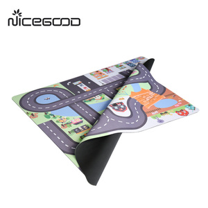 EN71 eco-friendly baby education play mat with roads, play mat for baby playing toys