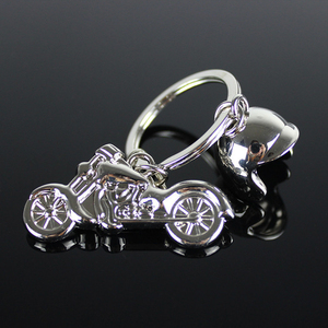 Custom zinc alloy metal motorcycle helmet 3d keychain Bike Motocross key holder for car motorcycles lover