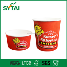 biodegradable wholesale big size paper cups food container