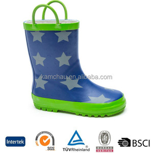 2019 new hot sale style beautiful lovely waterproof anti skid soft sole boys toddlers wellies rain boots for kids