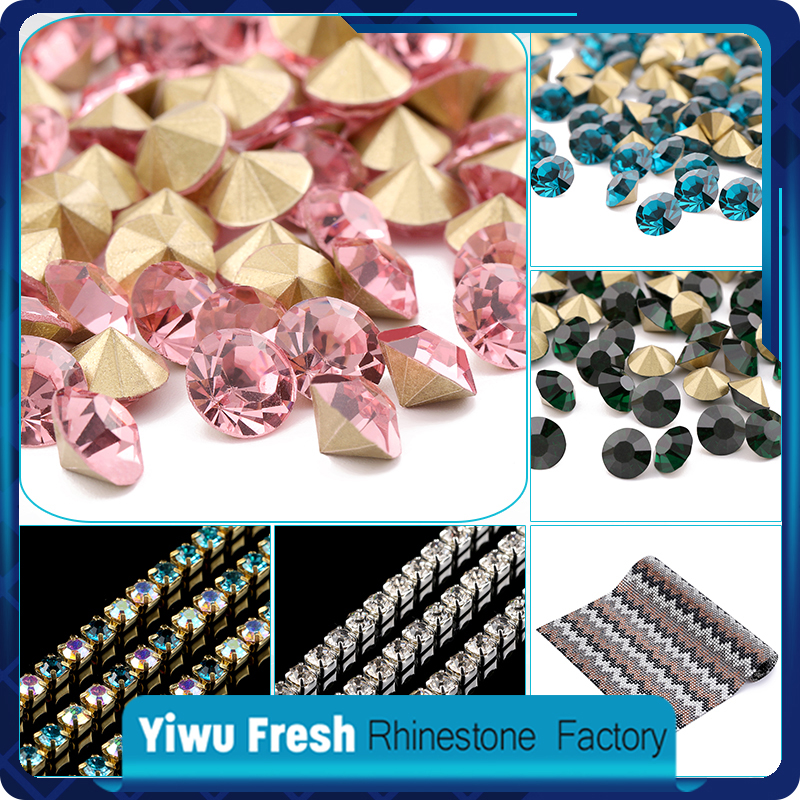 Wholesale point back 2mm rhinestones, crystal stones for clothing and wedding dresses