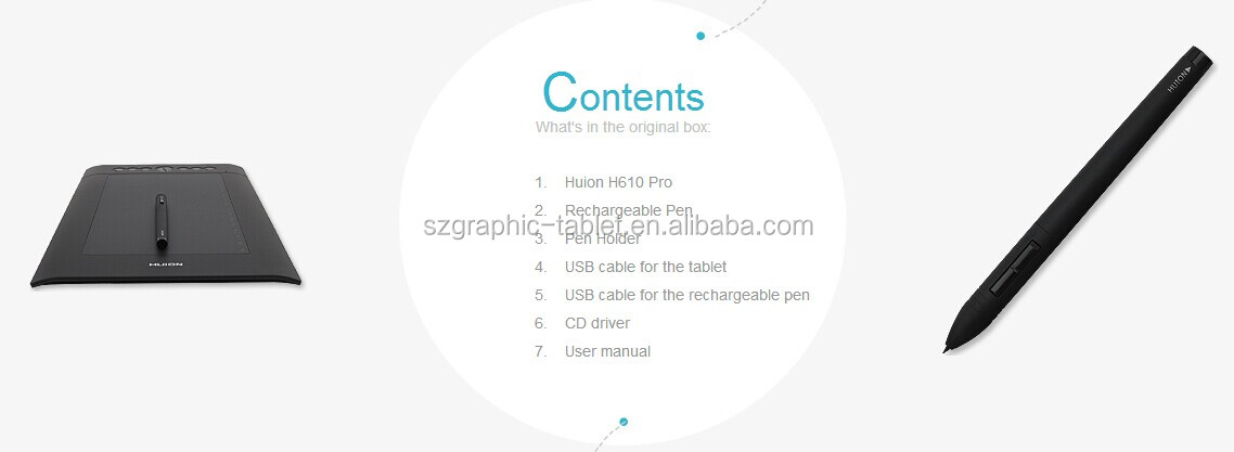 China Huion H610 Pro Graphics Drawing Pen Tablet, View Graphics Drawing Pen  Tablet, Huion Product Details from Shenzhen Huion Animation Technology