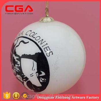 Wholesale Glass Christmas Ball Ornaments Decal Glass Christmas ...