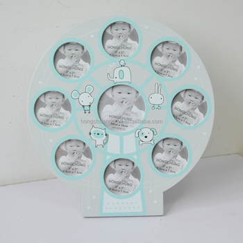 New Design Wooden Wall Decoration Baby 12 Month Photo Frame Baby