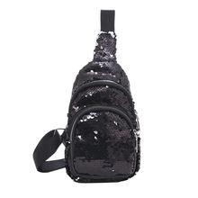 Поясная Сумка для женщин, барсетка, сумка для груди, Женская винтажная сумка на плечо, с блестками, голографическая сумка, sac banane femme #10(Китай)